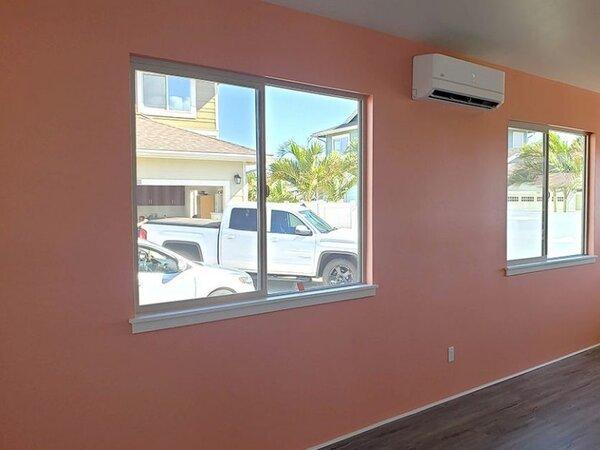 Interior walls painted a nice orange color